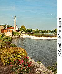 The Senaca River which runs through the small town of Baldwinsville, New York