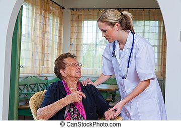 the senior doctor