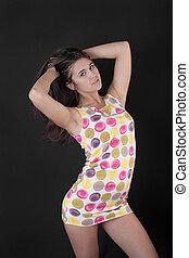 girl in a short dress