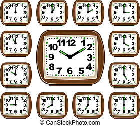 The Set Clock Time. Illustration in vector format EPS