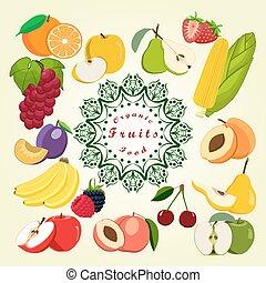 The set fruits