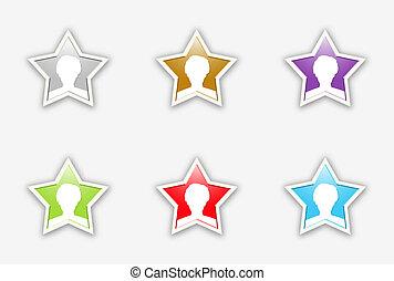 the set of celebrity stars icon