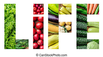 The set of healthy fresh vegetables