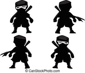 The set of mini ninja warrior vect