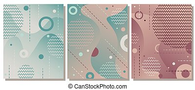 25fd64eeb30f13 The set of modern artistic background with gradient and geometric elements.  The abstract background is