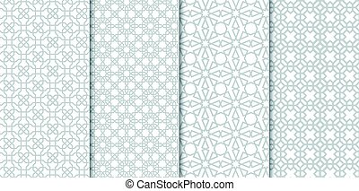 The set of Traditional Arabian pattern background