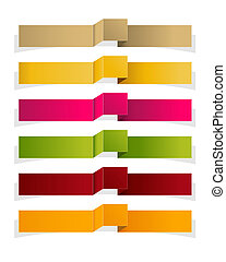 The set of blank modern style ribbons