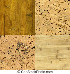 wood and cork-board background textures