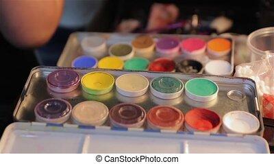 The Set Paints Makeup - The set paints makeup professional...