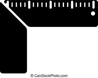 The setsquare icon. Building square symbol. Flat Vector...