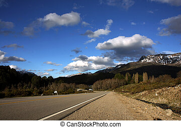 The seven lakes road next to Bariloche at Nahuel Huapi national park in Argentina