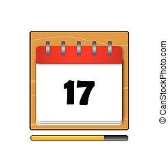 The seventeenth day in a calendar vector