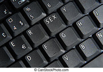the sex key - laptop keyboard with sex button