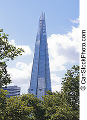 The Shard surrounded by trees, London - View of The Shard...
