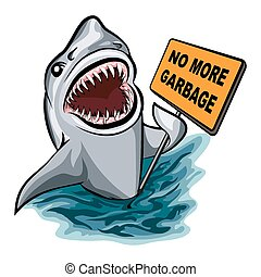 The Shark - The shark voting against ocean pollution and ...
