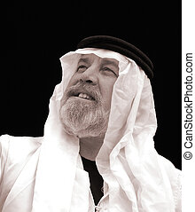 The Sheik - A Black and White Portrait of a Man