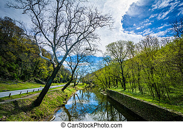 The Shenandoah Canal, in Harpers Ferry, West Virginia.