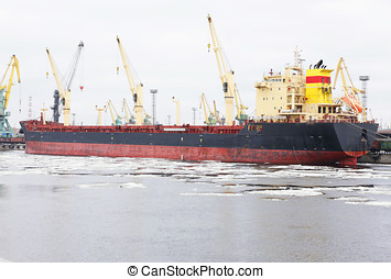 bulk carrier - the ship is a bulk carrier at berth