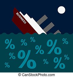 The ship is sinking on the sea of debt and loans