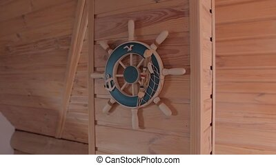 The Ship Steering Wheel - The ship steering wheel on the...
