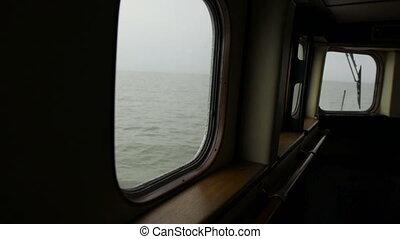 The ship's captain bridge interior - The ship's captain...