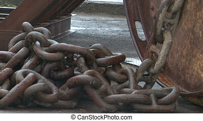 The ship's chain.