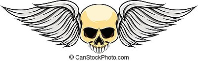 The short wings with the dead skull