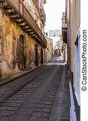 The sicilian old street