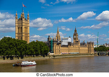 Palace of Westminster - The side of the Palace of...