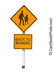 The sign Back to School