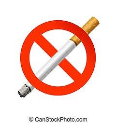 The sign no smoking. Illustration on white background