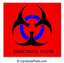 The Sign of biohazard isolated on white background