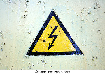 The sign of high voltage