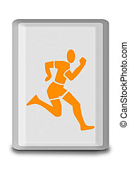 The Sign of running isolated on white background