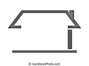 The silhouette of a house - logo