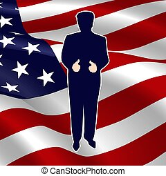 The silhouette of the President of the USA