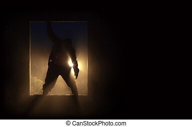 The silhouette of the zombie - The silhouette of the fat...