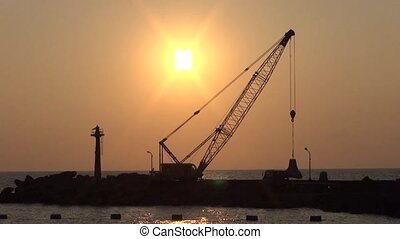 the silhouette of under constructio