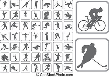 Silhouettes athlete - The Silhouettes athlete. Set of the...