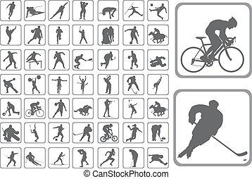 Silhouettes athlete - The Silhouettes athlete. Set of the ...