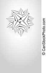 The silver template with a gift rib - The blank template for...
