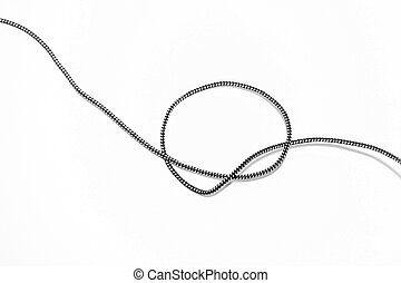 The Simple knot on a white background