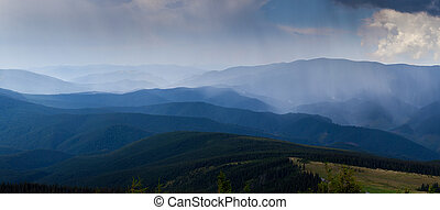 The simple layers of the Smokies at sunset mountains