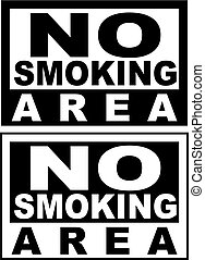 The simple sign No Smoking. Illustration on white background