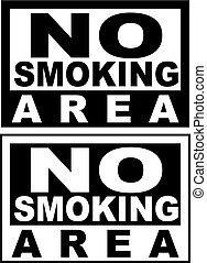 No Smoking - The simple sign No Smoking. Illustration on ...