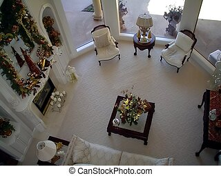 The Sitting Room - Taken from the second floor of a home...