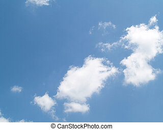 The sky with white clouds