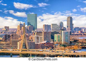 The skyline of Boston in Massachusetts, USA