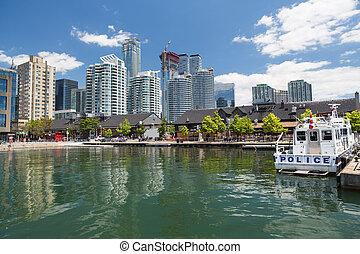 The skyline of Toronto in Ontario Canada