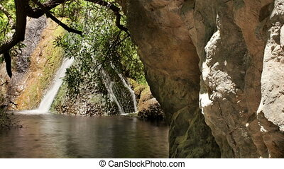the small oasis of darwin falls in the middle of death valley, california